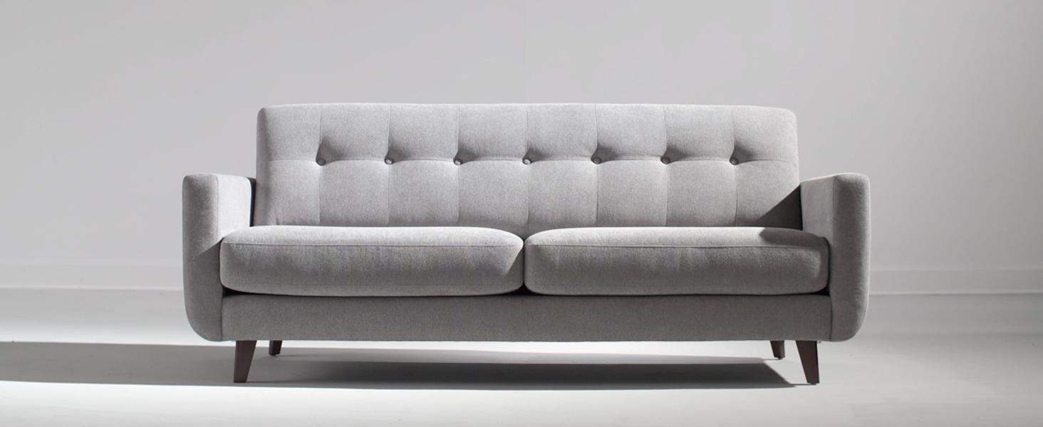 Amazon.com: Rivet Sloane Mid-Century Tufted Modern Sofa, 81\