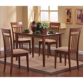 Coaster Home Furnishings 5 Piece Modern Transitional Square Dining Set
