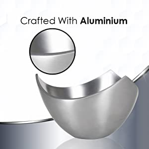 High quality aluminum with silver matte finish
