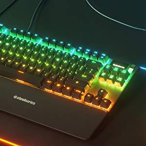 SteelSeries Apex Pro TKL - Mechanical Gaming Keyboard - Adjustable Actuation Switches - Oled display