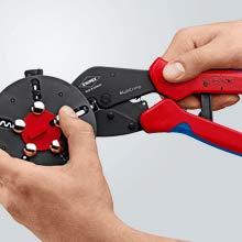 Cambio de troquel de crimpado: suelte la posición del cargador, retire la matriz de crimpado en los alicates.