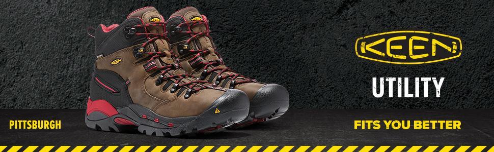 fdfff61249f KEEN Utility Men's Pittsburgh Steel Toe Work Boot