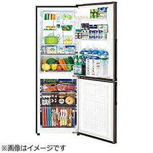 シャープ プラズマクラスター搭載 冷蔵庫 270L(幅54.5cm) 大容量ボトムフリーザー ブラウン系 SJ-PD27D-T