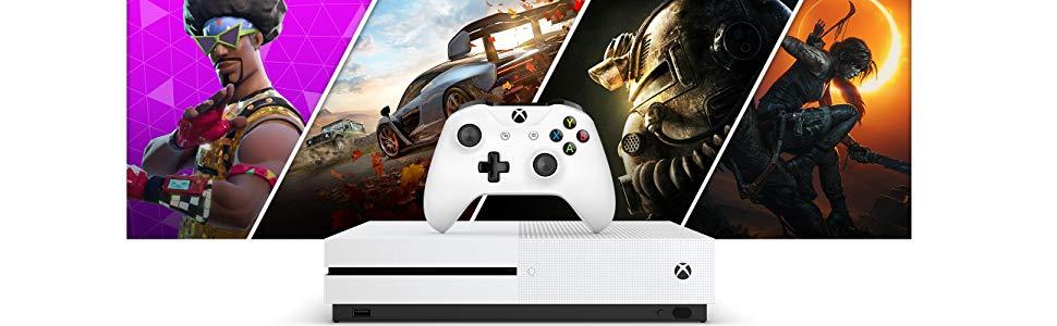 Microsoft Xbox One S 1TB + Controller Wireless + Abbonamento Xbox Live Gold 14GG Blanco 1000 GB Wifi - Videoconsolas (Xbox One S, Blanco, 8000 MB, DDR3, AMD Jaguar, AMD Radeon): Amazon.es: Videojuegos