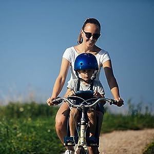Weeride Safe Front Deluxe Sillita Infantil para Bicicleta, Unisex bebé, Denim, 0: Amazon.es: Deportes y aire libre