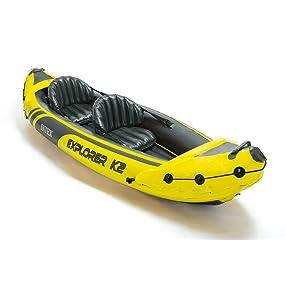 Intex Explorer K2 Two Person Kayak With Oars Pump