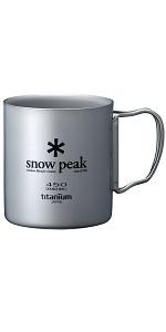 スノーピーク(snow peak) チタンダブルマグ450ml MG053