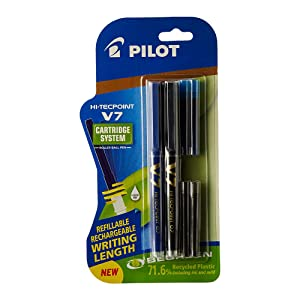Pilot V7 Hi-tecpoint Pen with cartridge system
