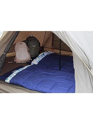 【Amazon.co.jp 限定】寝袋 ファミリー2in1 C5 使用可能温度5度 封筒型 ネイビー