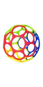 O'ball オーボール オリジナル(グリーン、ブルー、レッド、イエロー) (81001-01) by Kids II
