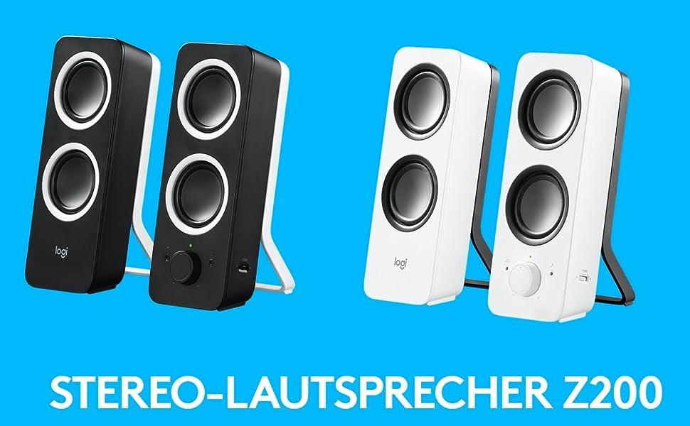 Logitech Z200 2 1 Lautsprecher Mit Subwoofer Surround Computer Zubehör