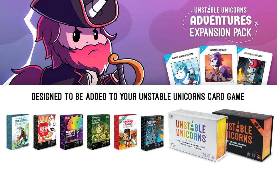 Unstable unicorns adventures expansion pirate cute kawaii