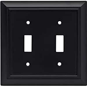 Architectural Double Toggle Switch Wall Plate Switch Plate Cover Flat Black Packaging May Vary Double Outlet Cover Plate Amazon Com