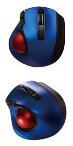 Digio2 Q 極小 トラックボール Bluetoothマウス 静音 5ボタン ブルー 48373