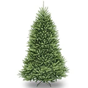 national tree unlit 7 12 dunhill fir hinged artificial christmas tree - Amazon Artificial Christmas Trees