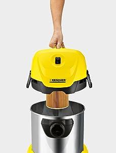 Kärcher MV 3 Premium Aspirador seco-húmedo, 1000 W, 17 litros, 71 ...