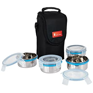 Solimo stainless steel lunch box set for office