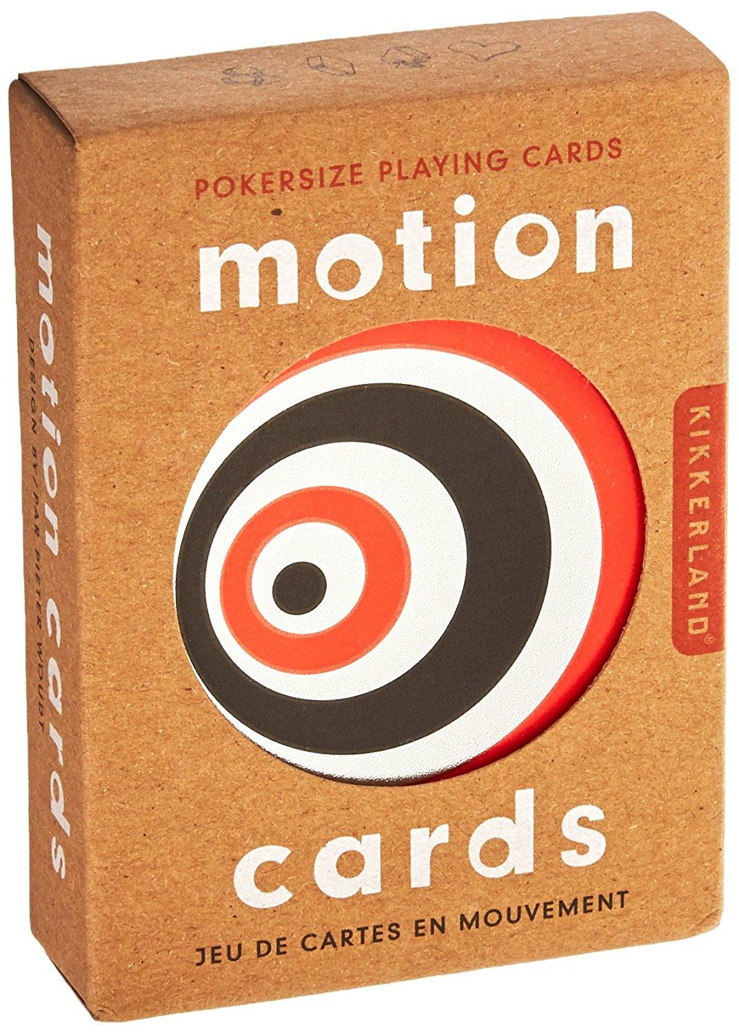 Amazon.com: Kikkerland Motion Playing Cards: Toys & Games