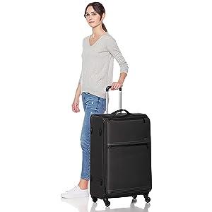 AmazonBasics Lightweight Softside Spinner Luggage