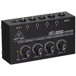 Behringer Headphone Amplifier : behringer ha400 microamp 4 channel stereo headphone amplifier musical instruments ~ Russianpoet.info Haus und Dekorationen