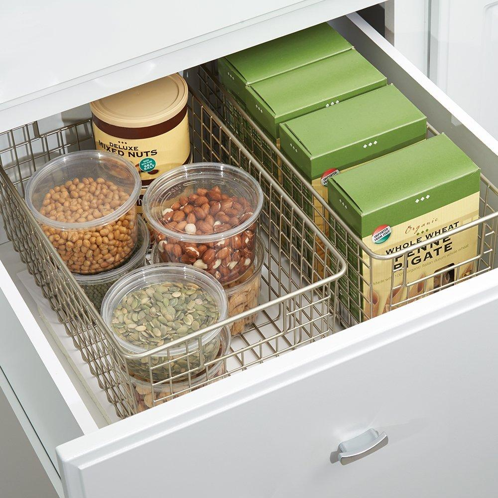 InterDesign Classico Wire Storage Basket for Kitchen ...