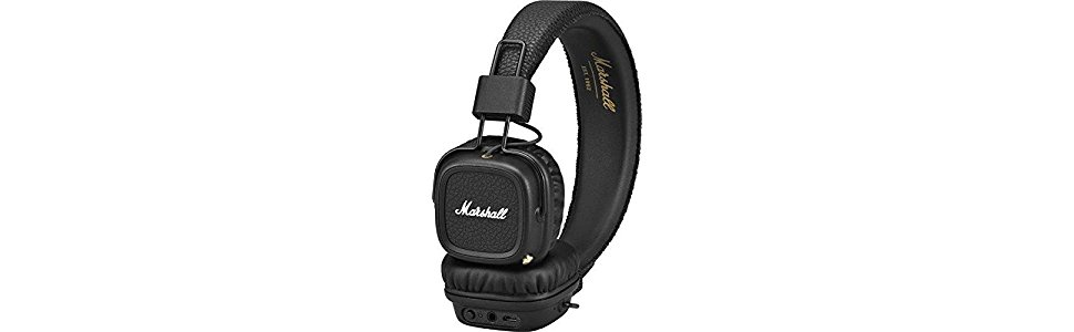 MARSHALL MAJOR PITCH BLACK cuffie tradizionali + microfono  Marshall ... 7e955d649ab5