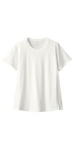 無印良品 コットンレーヨン天竺授乳に便利な半袖Tシャツ