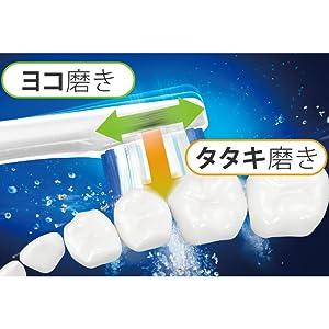 独自開発の「W音波振動(※1)」で歯周ポケットの汚れをかき出す
