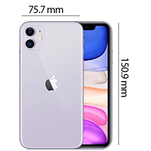 Apple MWLX2AE/A iPhone 11 without FaceTime - 64GB, 4G LTE, Purple