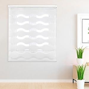 Blindecor Lino - Estor enrollable translúcido liso, 140 x 200 cm, color Lino
