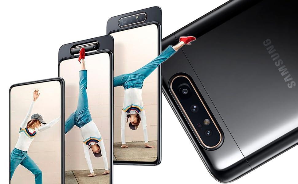 Samsung Galaxy A80 Dual SIM - 128GB, 8GB RAM, 4G LTE, Phantom Black