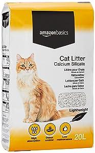 AmazonBasics - Arena para gatos de silicato de calcio, 20 l
