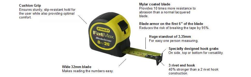 Stanley FatMax 8m 26' tape 33-726