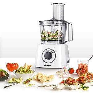 Bosch MCM3100W MultiTalent3 - Procesador de alimentos, 800 W, color blanco