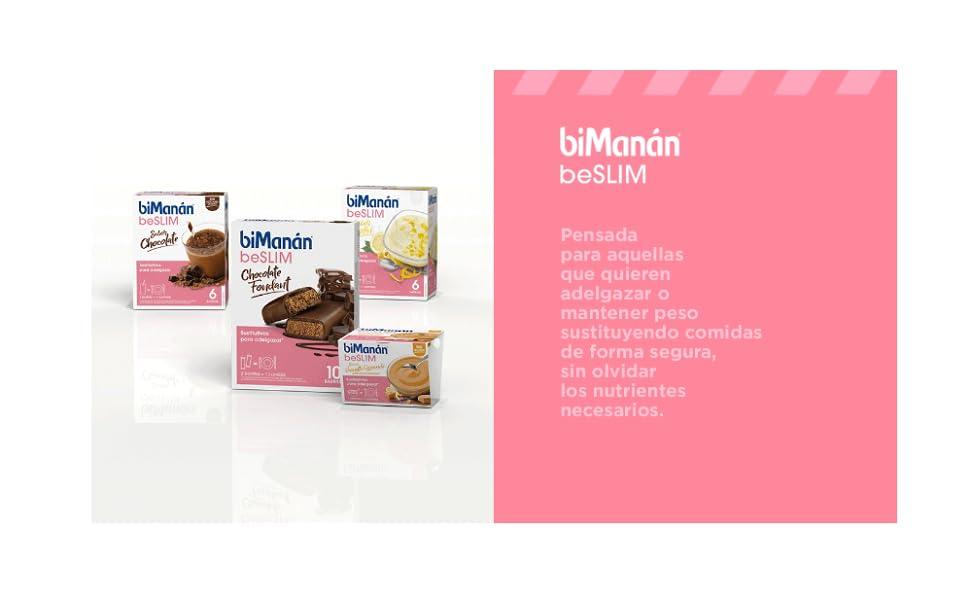 BIMANAN - beSLIM - Sustitutivos para Adelgazar - Batido Vainilla - 6uds 400 gr
