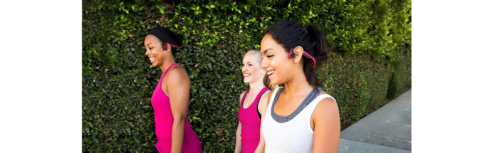 Aftershokz Trekz Titanium Mini Wireless On Ear Headphones, Pink-AS600MPK