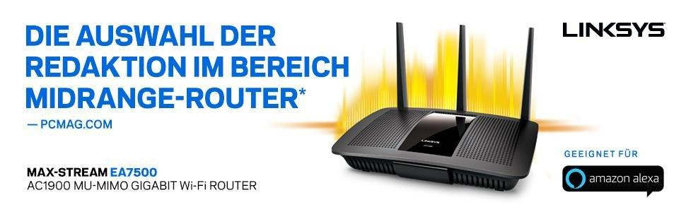 Linksys AC1900 Max-Stream Wi-Fi Router MU-MIMO Gigabit Dual-Band EA7500 No CD