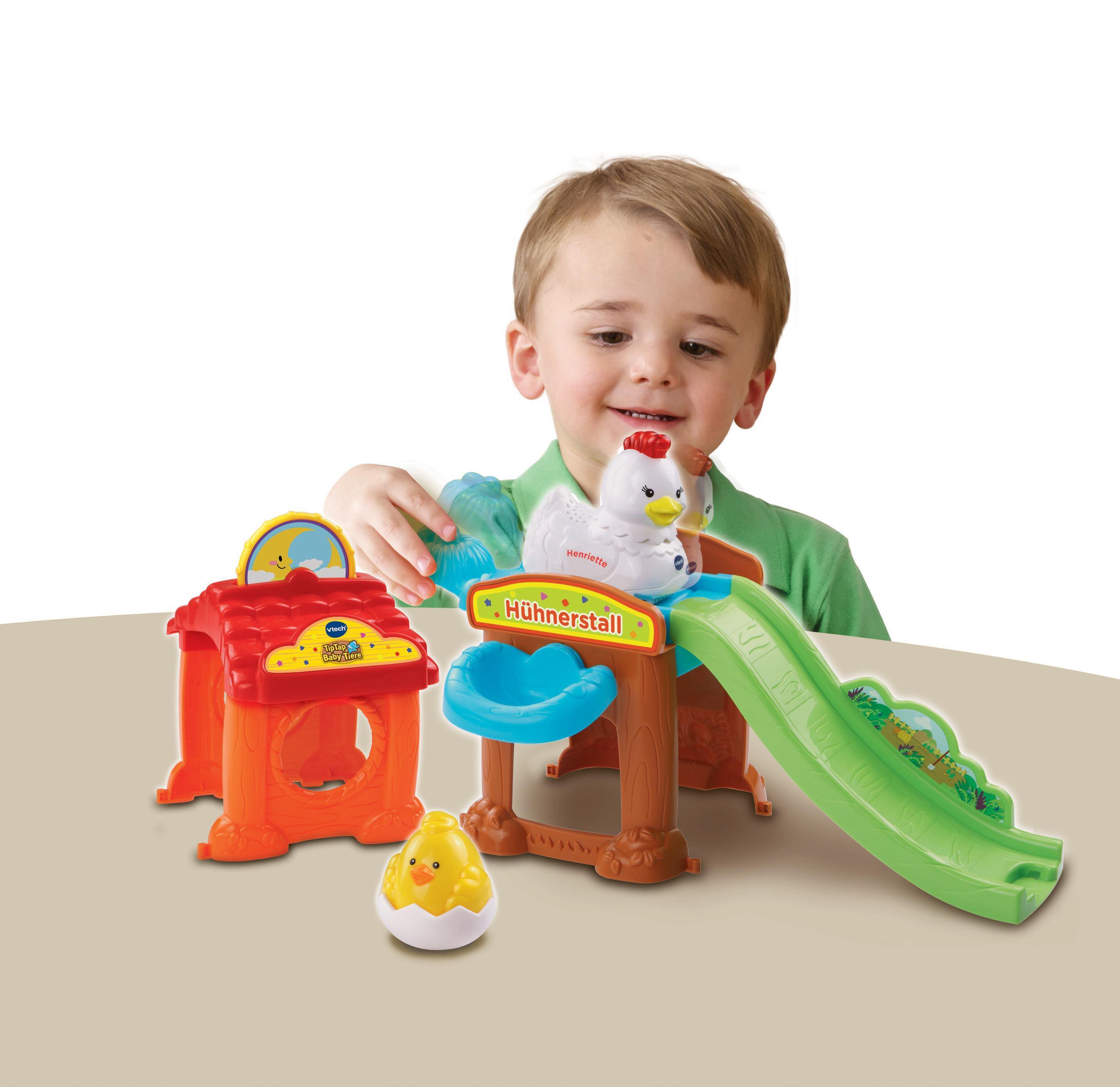Tip tap Hühnerstalll mit 3 Tiere Kleinkindspielzeug