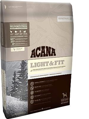 Acana Light & Fit presenta una variedad de ingredientes locales que son producidos o pescados por personas a las que conocemos y en las que confiamos, ...
