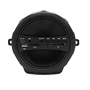 Microdigit Bluetooh Portable Drum Speaker for Multi, Black - M0052RT