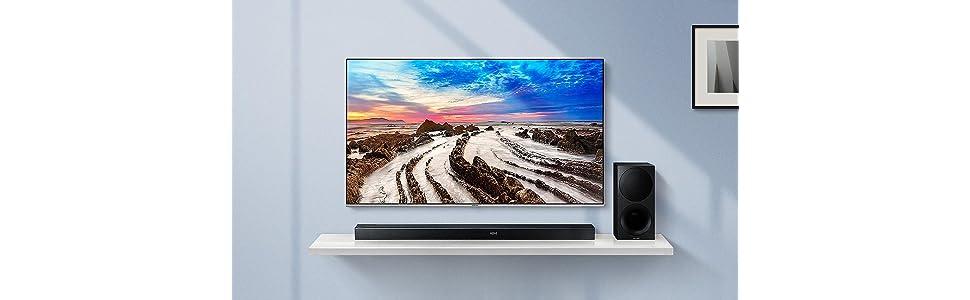 Samsung HW-M550 - Barra de Sonido inalámbrica con 340 W de Potencia, Color Negro: Amazon.es: Electrónica