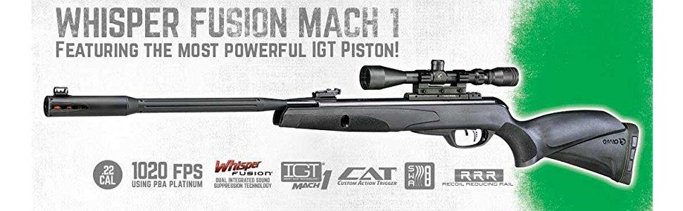 Amazon com : Gamo Whisper Fusion Mach 1 6110063254 Air Rifles  177 3