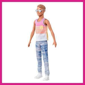 Barbie Fashionista Ken Doll Outfit Model #3 Stylin Stripes Shirt Jeans Shoes NEW