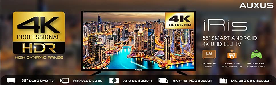 f953d741222b8 AUXUS 138 cm Full HD LED Smart Android TV AX55L4K01-SM  Amazon.in ...