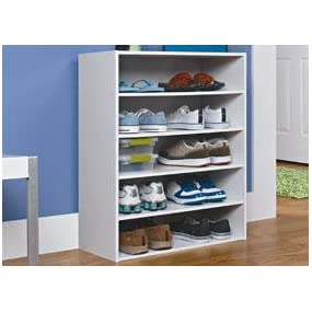 closetmaid stackable 5shelf organizer white