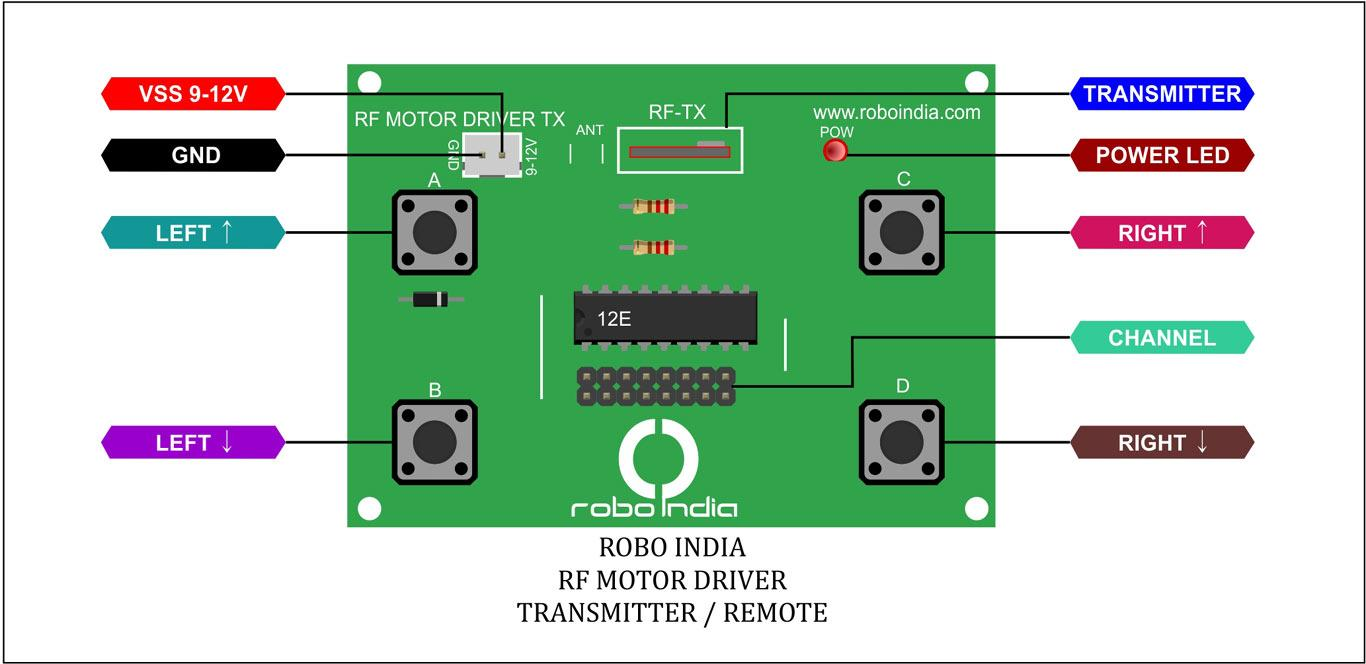 Robo India Ri 42 Wireless Rf Motor Driver 434mhz For Robot Module Circuit Diagram How To Use