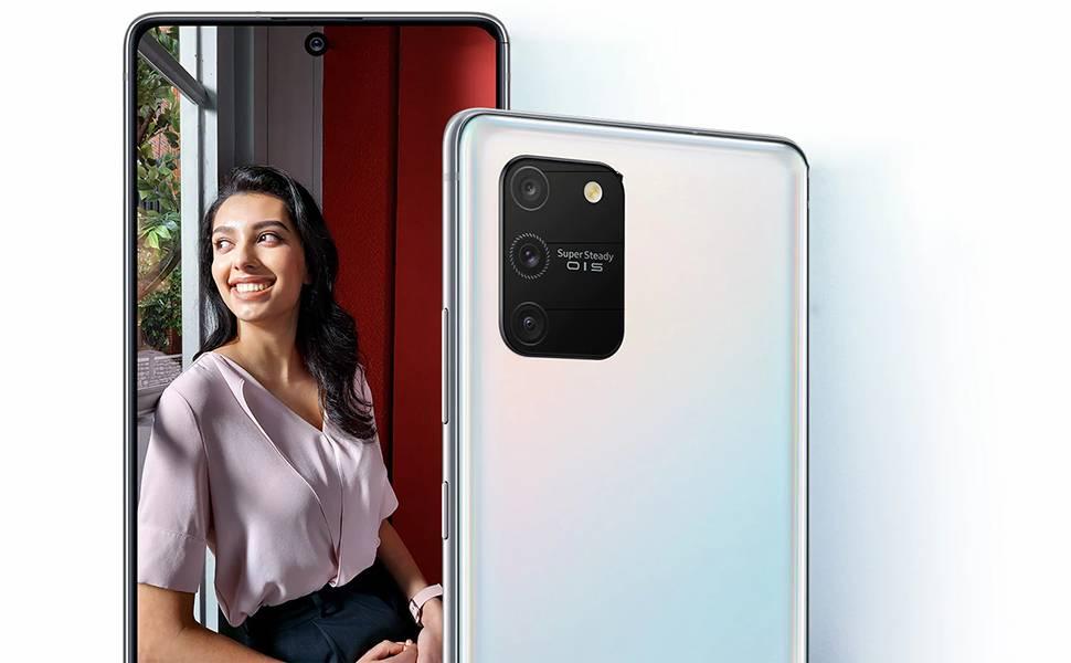 Samsung Galaxy S10 Lite Dual SIM - 128GB, 8GB RAM, 4G LTE - Aura White