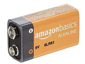Amazon Basics 9V leak-free alkaline battery with long shelf life