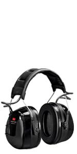 Orejeras 3M PELTOR WorkTunes Pro FM Radio, negras, diadema, HRXS220A, Orejeras 3M PELTOR WorkTunes Pro FM Radio, negras, acople para casco, HRXS220P3E