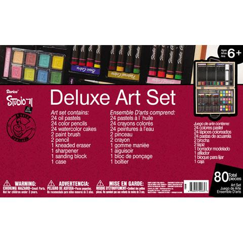Amazon.com: Darice 80-Piece Deluxe Art Set: Arts, Crafts & Sewing